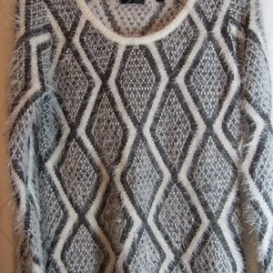 Cyrus Grey and Cream Sweater